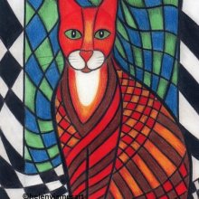 'PATCHWORK KITTY CAT GEORGE' - SOLD