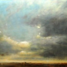 166-Northumberland Sky 30x24in oil