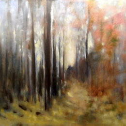 168-Walk through the Woods 30x20in oil