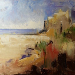 182-Castle by the Sea 30x20in oil