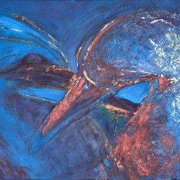 191-Gannets Preening 20x16in acrylic
