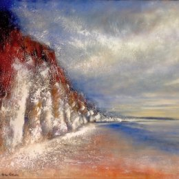 289-Cliffs Sewerby 30x24in oil