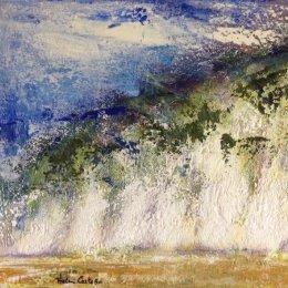 313-Chalk Cliffs Sewerby 12x10in oil