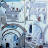 The Central Courtyard, Monastery on Patmos