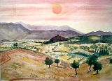 Sunset over Evia