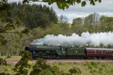 The Flying Scotsman travelling south on the newly opened Scottish Borders railway