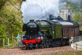 The Flying Scotsman emerging from the Bowshank Tunnel