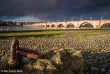 Dark clouds over the Old Bridge, Berwick