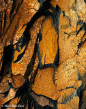 Orange coloured rock