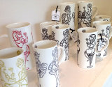 Girlie Collection Bone China Mugs