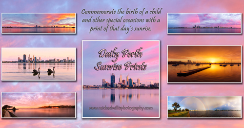 Purchase a Daily Perth Sunrise Print by Michael Willis Photography