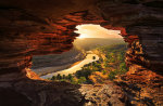 Sun Rays Through Nature's Window, Kalbarri National Park