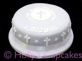 Lilac Christening cake