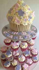 Butterflies and flowers cupcake tower