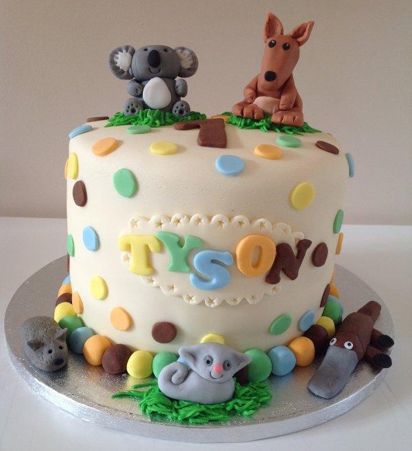 Hollys Cupcakes Sw18 Australian Animal Cake