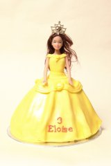 Belle doll cake