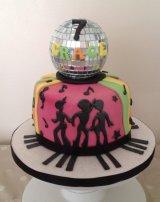 Music disco cake