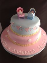 Twins Christening cake from £45