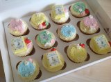 Beatrix Potter inspired cupcakes