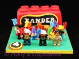 Lego men cake