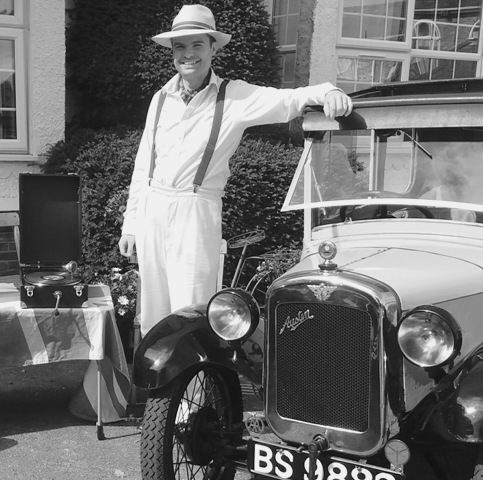 Dickon with his 1929 Austin Seven