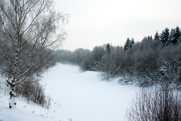 Vantaa river in Winter