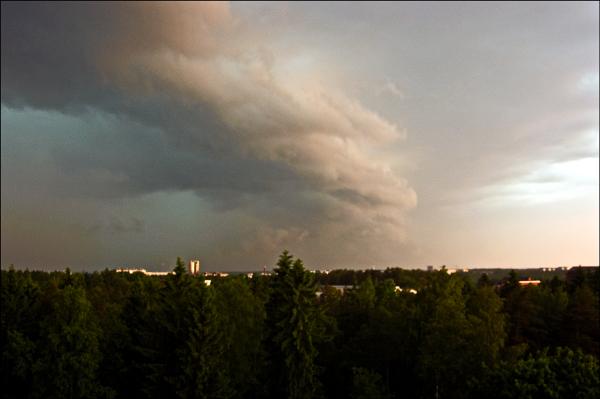 Thunderstorm over Espoo
