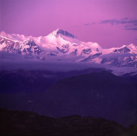 Annapurna Range-after sunset
