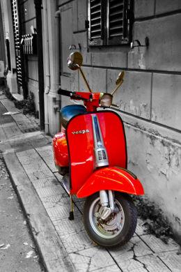 Red Vespa.
