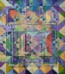 Summer Garden. Acrylic on Canvas 87x77cms