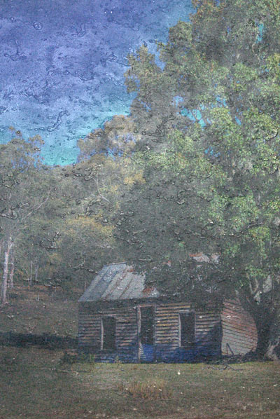 cottage in photo oils