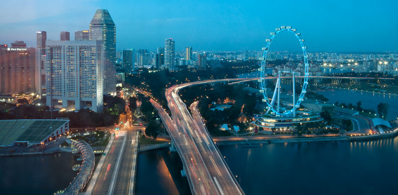 Singapore Flyer by night