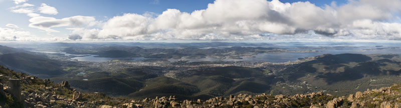 Mt Wellington panorama