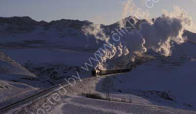 Snow scene on The Ji Tong Railway near to Jinpeng.