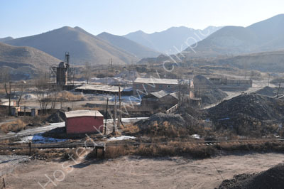 A general view of one of the Nanpiao mines. It was very quite as it was a few days before the Chinese New Year.