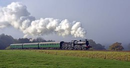 Horsted Keynes as the mist lifts