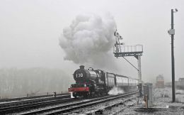 Swithland sidings in the fog