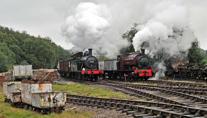 Shunting at the Colliery