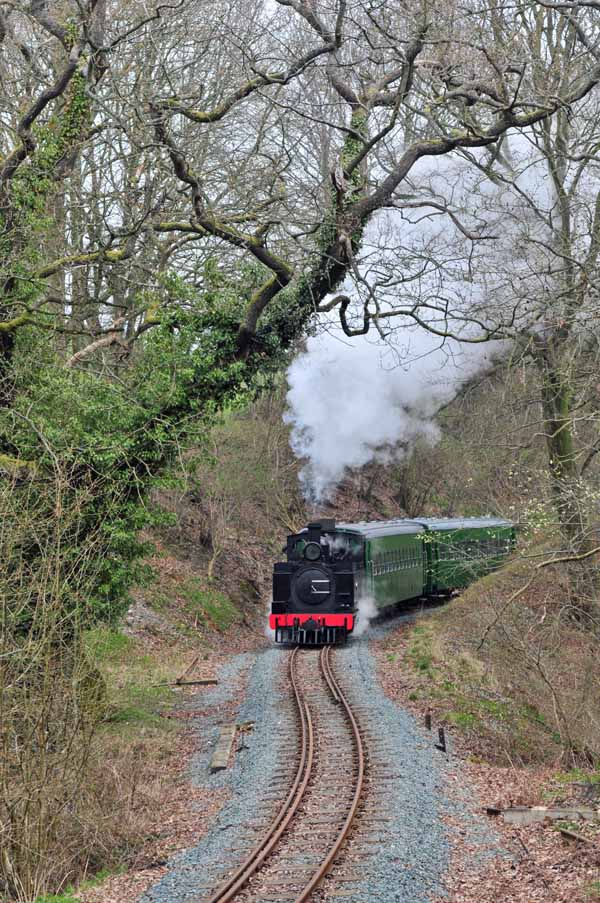 Climbing out of Welshpool at Hanged Man's Tree.