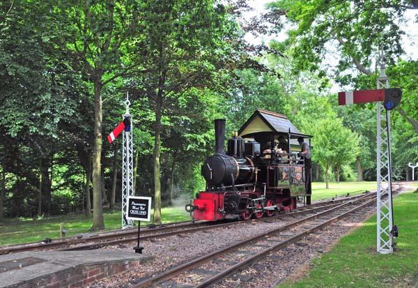 No 9 arriving at Warren Wood light engine