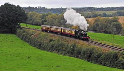 5526 on a passenger train south of Bridgenorth.