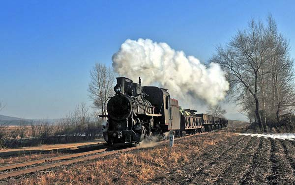 A classic shot of No 4, one of only 3 loco's seen working.