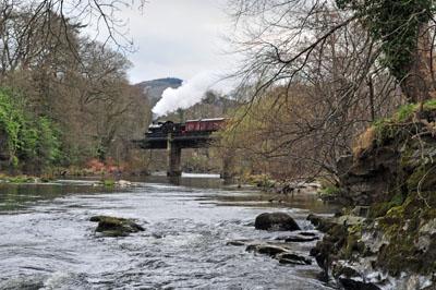 Crossing the River Dee near Llangollen.