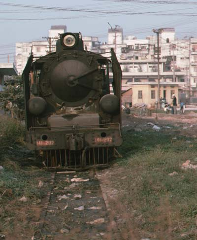 141-202 was shunting in the yard at Hanoi Gia Bat.