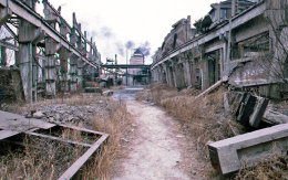 The old Works, Tangshan, after the earthquake