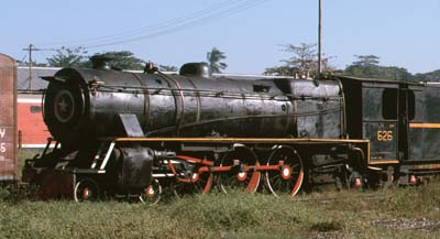 At Yangon Central station YC626 was in the yard, motion off awaiting delivery to Insein for repairs.