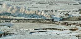 Coal train outside Mudanjiang on the horseshoe