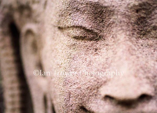 Carved Figure, The Bayon, Angkor