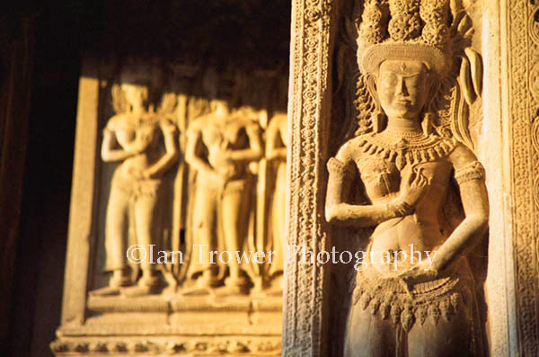 Carved Figures, Angkor Wat