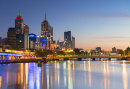 Melbourne skyline at dawn